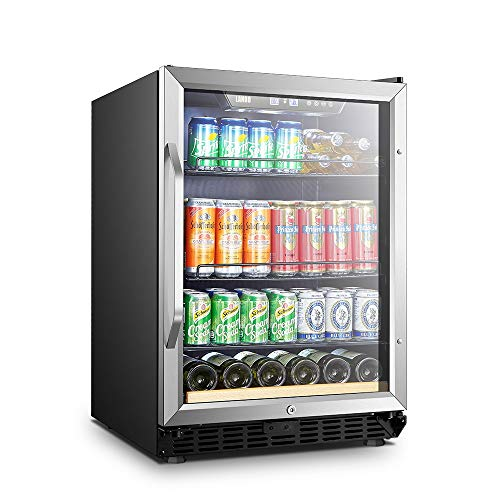 Lanbo Beverage Refrigerator, 110 Cans 6 Bottles Built-in Compressor Drink Fridge