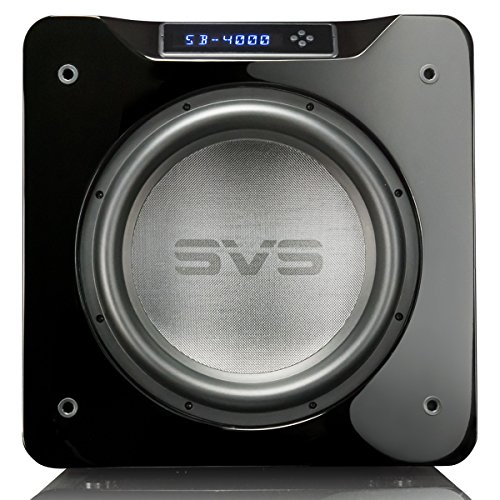SVS SB-4000 Subwoofer (Piano Gloss Black) – 13.5-inch Driver, 1,200-Watts RMS, Sealed Cabinet, App Control