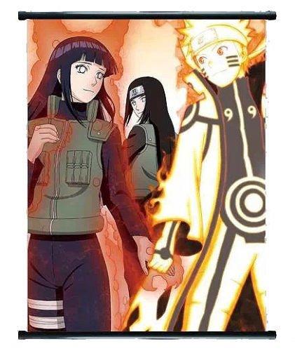 Naruto Anime Naruto & Hinata Wall Scroll mittel-Größe?40x 60cm
