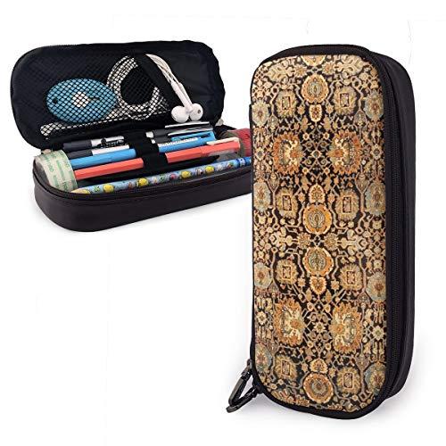 Antike persische Malayer Teppich Federmäppchen Multifunktions-Federmäppchen, großes Fassungsvermögen, Schreibwaren Organizer Stifthalter für Schule Büro Kosmetik Make-up-Tasche