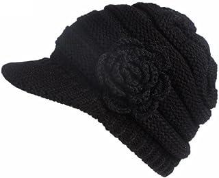 Goddessvan Womens Hat, Women Winter Knitting Hat Berets Turban Brim Hat Cap Pile Cap