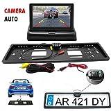 generica Portatarga con Telecamera Retromarcia e Monitor 4.3' Auto Retrocamera 170 Nottura