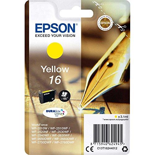 Epson 16 DURABriteUltra Ink- Cartuccia d'Inchiostro, Giallo (Yellow)