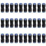 30 pezzi Pneumatica Raccordi Rapidi 6mm Raccordo Aria Connettore a Pressione Diritto Accessori per Utensili Pneumatici Compressa