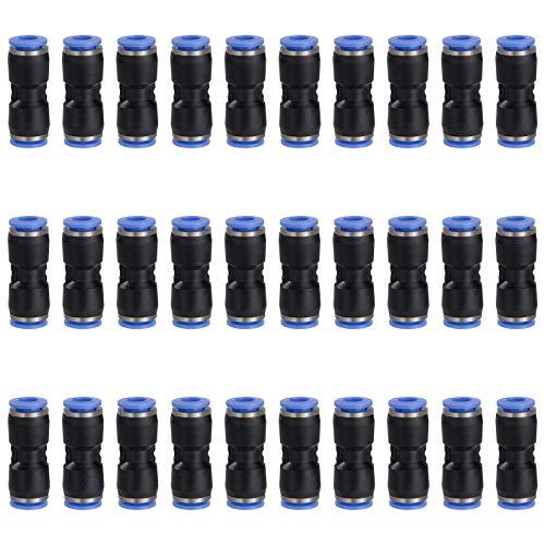30 piezas Conector Neumático 6mm Enchufe Rapido Neumatico Conectores Manguera de Aire Accesorios para Herramientas Neumáticas