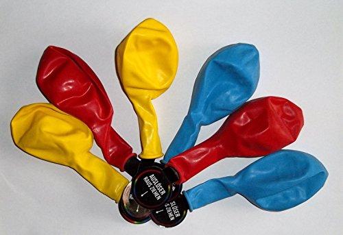 Sachsen Versand 9 palloncini luminosi a LED, ideali come decorazione per matrimoni, feste di compleanno
