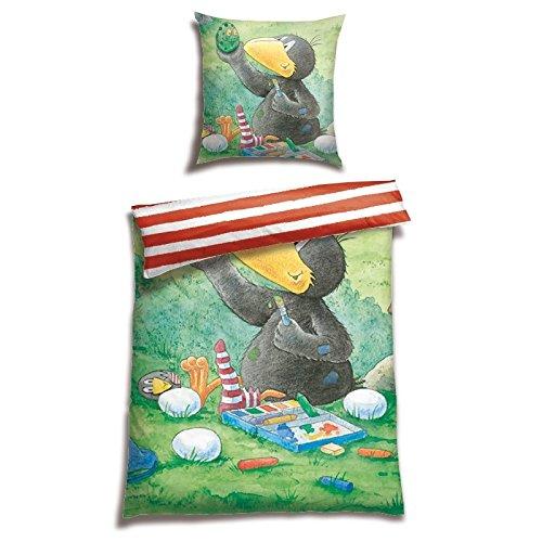 Der kleine Rabe Socke Renforcé Bettwäsche Ostern, Größe:135 cm x 200 cm