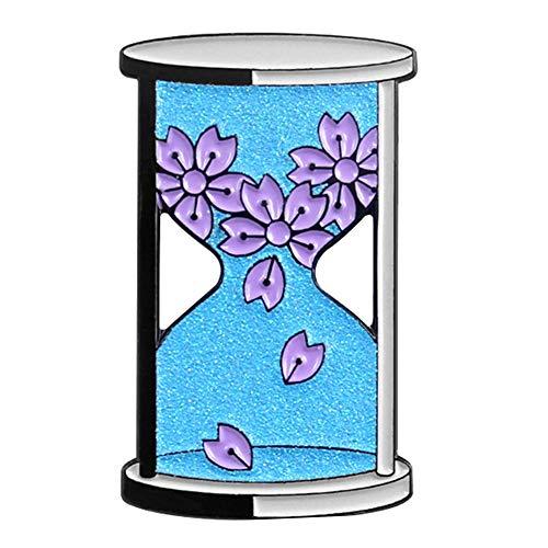 Puran Brosche mit Blumenblättern, Emaille, Unisex, für Pullover, Shirt, Kragen, Brustgurt, Rucksack, Hut, Tasche, Zubehör, Legierung, 1