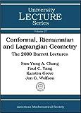 Conformal, Riemannian and Lagrangian Geometry