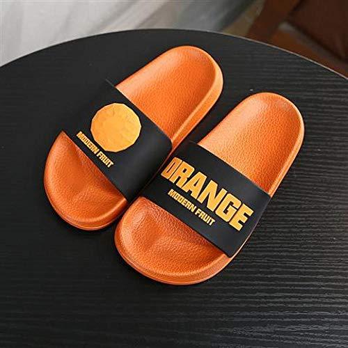 YYFF Zapatillas casa Hombre,Zapatillas de Interior Casuales,Chanclas para Parejas con Suela Blanda-Orange_42 / 43,Sandalias Verano Antideslizante
