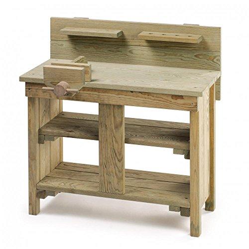 Erzi Outdoor Werkbank mit Schraubstock - Spielzeug-Werkbank aus Holz