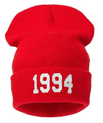 4sold - Bonnet - Homme noir Noir Taille universelle noir 1994 red Taille universelle