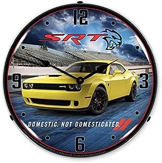 Dodge Challenger SRT Hellcat Yellow Jacket Muscle Car Wall Clock 14