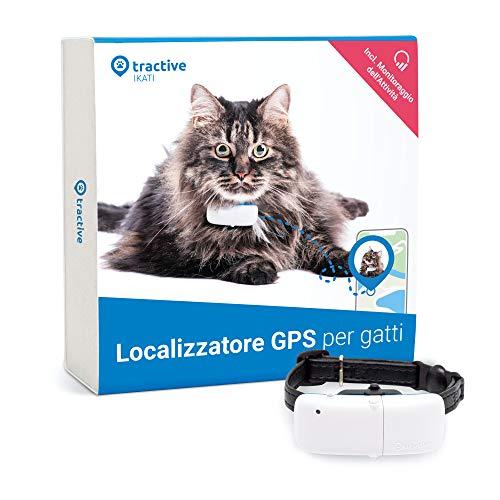 Tractive TRKAT1 - Localizzatore GPS per gatti, a Portata illimitata, Monitoraggio dell'attività, Durata della batteria fino a 5 giorni, Impermeabile, Taglia Unica