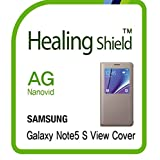 Healingshield スキンシール液晶保護フィルム Anti-Fingerprint Anti-Glare Matte Film for Samsung Mobile Galaxy Note5 S View Cover [2pcs]