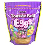 Tootsie Roll Eggs Candy Coated Egg Shaped Individually Wrapped Easter Candy, 23 oz Resealable Bag