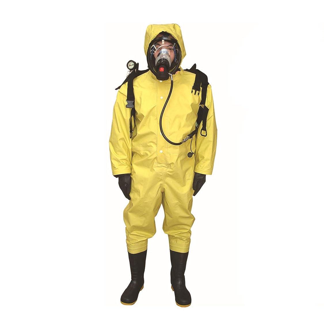 誤解ハーフ管理化学防護服 保護服 放射性防護衣 耐酸 耐薬品 オレンジ 化学物質が直接皮膚にばく接触せず S/M / L/XL