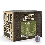 Note d'Espresso - Cápsulas de Té Negro al Limón - Compatibles con Cafeteras Nespresso - 2g (Caja de 100 Unidades)