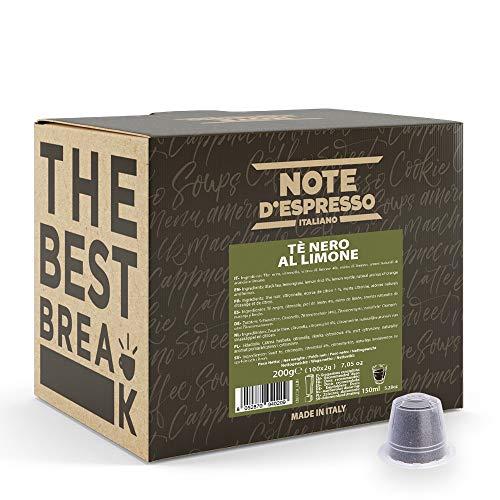 Note D'Espresso – Schwarzer Zitronentee – Kapseln – ausschließlich kompatibel mit NESPRESSO – 100 caps