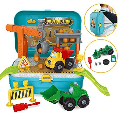 BAU- und Konstruktionsspielzeug Bulldozer Spielzeugautos Disassemblable Traktor für Kinder Jungen ab 3 Jahren