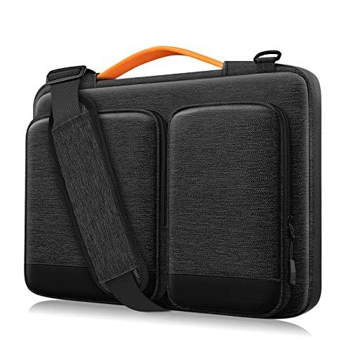 Alfheim 15,6-16 Zoll Laptop Tasche, Wasserdicht Stoßfest Leichte Schultertasche, 360° Schutz Notebook Hülle Kompatibel mit 16 inch MacBook Pro A1398/Acer/Dell/Thinkpad/Samsung (Hellgrau)