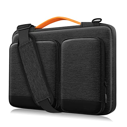 Alfheim 14 inch Laptop Case Sleeve, Waterproof Shock-Resistant Lightweight Shoulder Bag, 360° Protective Notebook Briefcase Compatible with 15 inch New MacBook Pro USB-C A1990 A1707 (LightGrey)