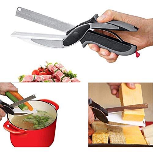 BSTCAR 2 en 1 Ciseaux Cuisine, Clever Cutter, L'ustensile De Cuisine Idéal pour Couper, Trancher Et Découper en Un Instant Toute Vos Préparations