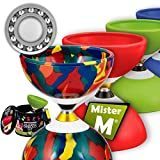 Ball Bearing Diabolo with 3 Ball Bearings + Sticks + Extra String + Free Online Video - Extra Quiet, Super Spin. Designed by Mister M / The Ultimate Diabolo Set (Camouflage)