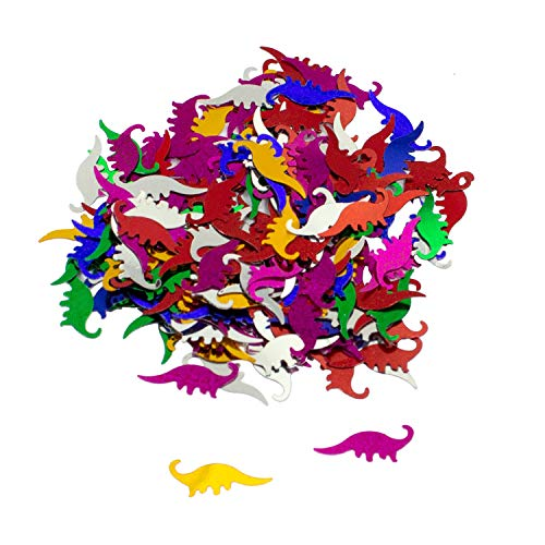 Oblique Unique® Dino Konfetti bunt Kinder Geburtstag Junge Dinosaurier Tisch Deko Streudeko 14g