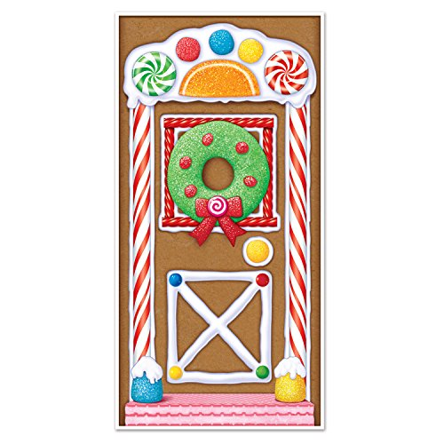 Beistle Gingerbread House Door Cover, 30' x 5'