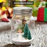 DECARETA 35 Stück Künstlicher Weihnachtsbaum, Mini Grün Tannenbaum, 4.5/6.5/8.5/12.5cm Naturgetreuer Christbaum für Tischdeko, DIY, Schaufenster (Grün) - 4