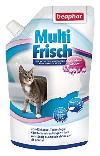 beaphar Multi Frisch Orchideen Zauber   Katzenklo Deo   Frischer Duft für die Katzentoilette   Macht Katzenstreu länger haltbar   pH neutral   400 g