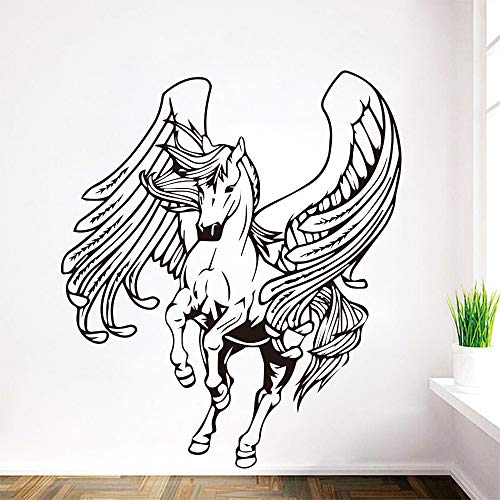 YIYEBAOFU wandstickers ohana, Creatieve Pegasus muurstickers woonkamer kinderkamer decoratie wanddecoratie accessoires muursticke