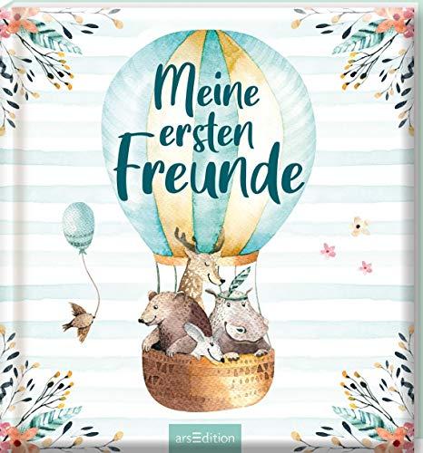 Meine ersten Freunde (Aquarell-Optik): Freundebuch für Kita, Krippe, Kindergarten, für Jungen und Mädchen ab 2 Jahren