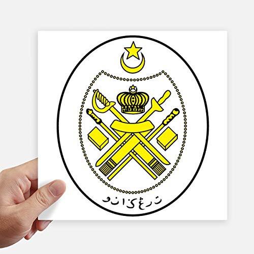 DIYthinker Malasia Asia Nacional Plaza Emblema Pegatinas Pared de 20 cm Maleta portátil Motobike Decal 4 Piezas 20cm x 20cm