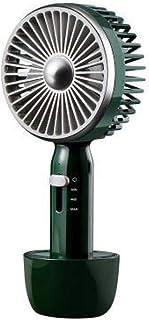 Mini Ventilador De Mano Ventiladores EléCtricos PortáTiles Con Recargable 2000 MAh Base ExtraíBle 3 Velocidades Ajustables Ventiladores De Escritorio USB Para Casa Oficina Viajar CáMping,DarkGreen