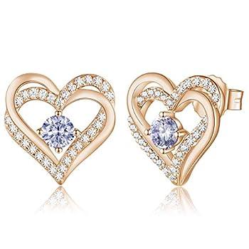 Best rose gold heart earrings Reviews