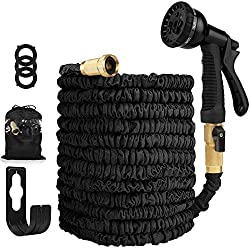 in budget affordable Garden hose Expandable hose – Flexible and tight high performance hose – 8-way high pressure water hose…