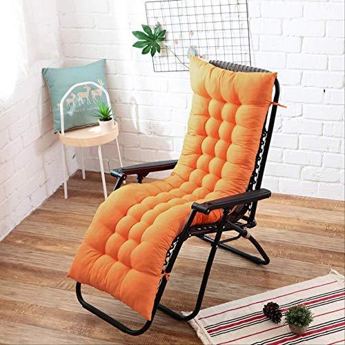 GCE Cuscino Lungo sedie reclinabili Cuscino Pieghevole per Sedia a Dondolo Cuscino per Sedia da Giardino Tappetino per Finestra Multicolore Opzionale 48x125 cm Arancione
