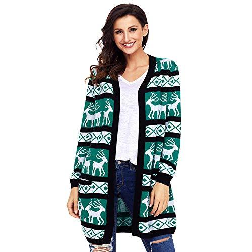 Initial dames winterjas grote maat knit lange mouwen loos gebreide jas Kerstmis jas
