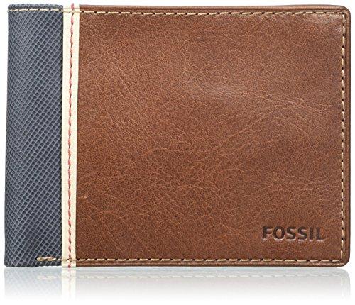 Fossil Herren Elgin Geldbörse, Braun (Brown), 1.9x9.5x12.1 cm
