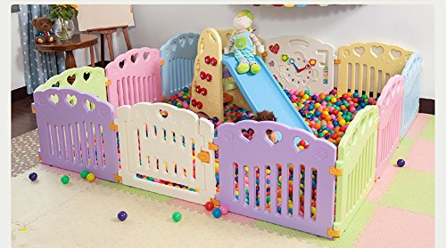JIMI-I Baby Playpen Play Centre d'activités pour Enfants Sécurité Play Yard Home Indoor Outdoor (6 Panneaux / 8 Panneaux) (Taille : 6 Panel)