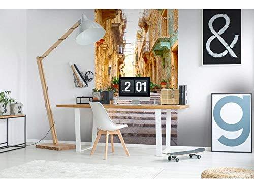 Vlies Fototapete SCHMALE STRAßE 150 x 250 cm | Vliestapete - Wandtapete für Wohnzimmer Schlafzimmer Büro Flur | PREMIUM QUALITÄT - MADE IN EU - Inklusive Tapetenkleber