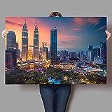 Yiwuyishi Benutzerdefinierte Poster Kuala Lumpur Leinwand