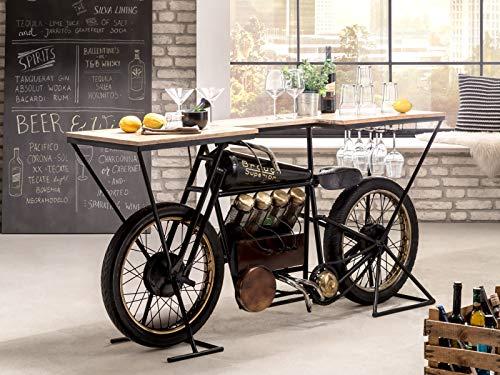 Woodkings® Bartisch Brough Bar Präsentationstisch Ladentisch Verkaufstisch Motorrad Buffettisch Barmöbel Ladenausstattung