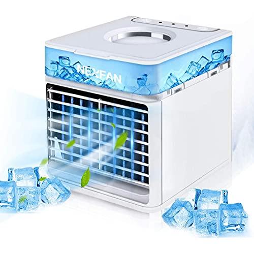 YANRU Aire Condicionado, Fuente De AlimentacióN por Cable USB Humidificador Coche - ProteccióN del Medio Ambiente Ventilador Aire Frio - para Cualquier HabitacióN, Oficina, Viajes, Camping