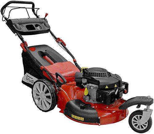 Güde 95386 Rasenmäher Big Wheeler 565/5 Trike 4in1 (6-fach Schnitthöhenverstellung, Schnittbreite 550 mm) rot, schwarz