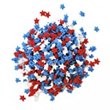 Dress My Cupcake Decorating Edible Cake and Cookie Confetti Sprinkles, July 4th Red/White/Blue Mini Stars, 2.4-Ounce