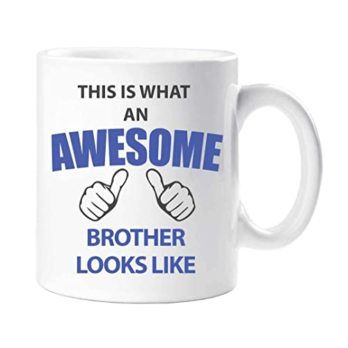 This Is What An Awesome Brother Looks Like Mug Present Gift Cup Birthday Christmas