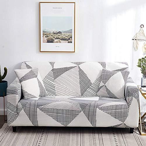 PPOS Funda de sofá elástica elástica con Estampado Floral, Toalla de sofá de algodón, Fundas de sofá Antideslizantes para Sala de Estar A6, 3 Asientos, 190-230cm-1pc